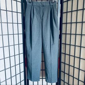 H&M grey high waisted career pants trousers Sz 8